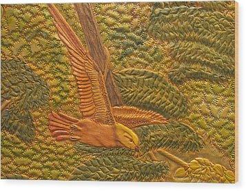 Eastern Meadowlark Wood Print by James McGarry Leather Artist