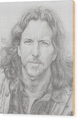 Eddie Vedder Wood Print by Olivia Schiermeyer