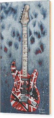 Eddie's Frankenstrat Wood Print by Arturo Vilmenay