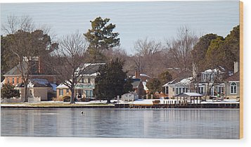 Edenton Waterfront Wood Print by Carolyn Ricks