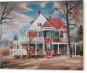 Edgar Home Wood Print by Kip DeVore