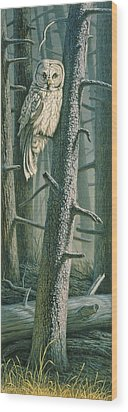 Edge Of The Burn Wood Print by Paul Krapf
