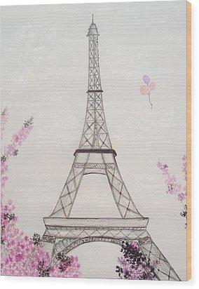 Eiffel Tower  Wood Print by Christine Corretti
