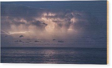 Electric Skys Wood Print by Brad Scott