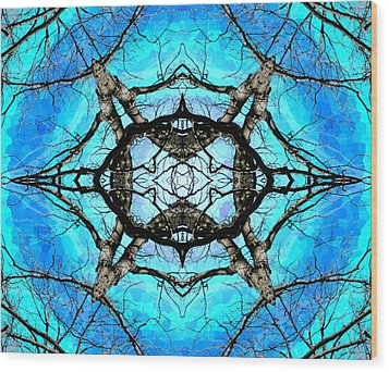 Elemental Force Wood Print by Shawna Rowe