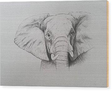Elephant Wood Print by Ele Grafton