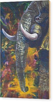 Elephant Wood Print by Kd Neeley