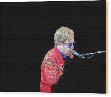Elton Wood Print by Aaron Martens