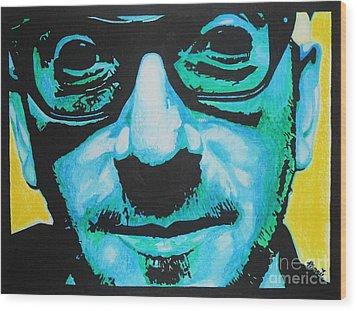 Elvis Costello Wood Print by Bonnie Cushman