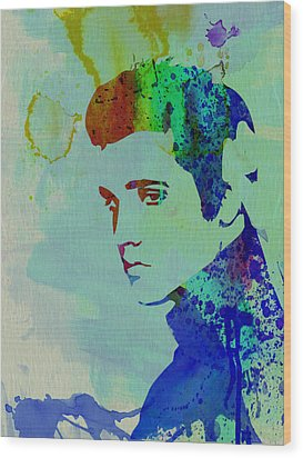 Elvis Wood Print by Naxart Studio