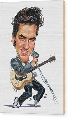 Elvis Presley Wood Print by Art