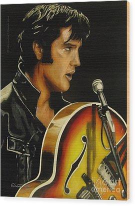 Elvis Presley Wood Print by Betta Artusi
