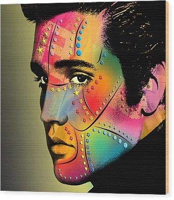 Elvis Presley Wood Print by Mark Ashkenazi