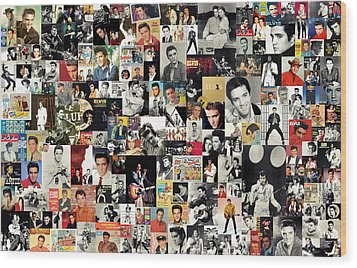 Elvis The King Wood Print by Taylan Apukovska