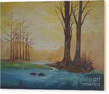 Emerging Light Of Hopes Wood Print by Jnana Finearts