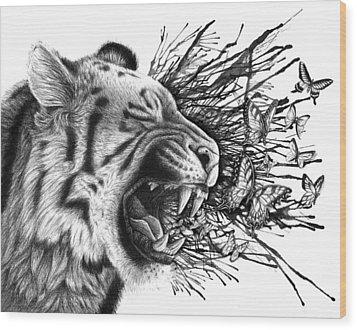 Emit Wood Print by Danielle Trudeau