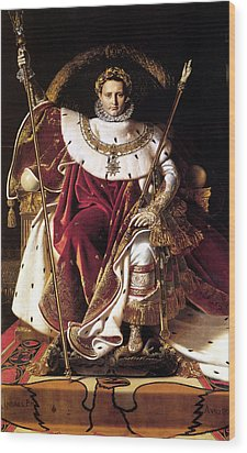 Emperor Napoleon I On His Imperial Throne Wood Print by War Is Hell Store