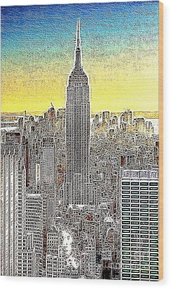 Empire State Building New York City 20130425 Wood Print by Wingsdomain Art and Photography