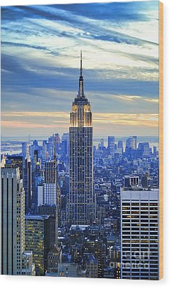 Empire State Building New York City Usa Wood Print by Sabine Jacobs