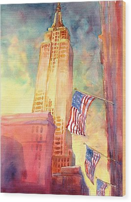 Empire State Wood Print by Virgil Carter