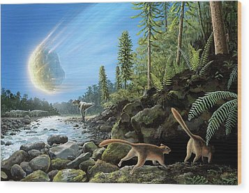 End Of Cretaceous Kt Event Wood Print by Richard Bizley