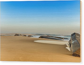 Wood Print featuring the photograph End Of The World by Thierry Bouriat