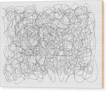Energy Vortex Wood Print by Daina White