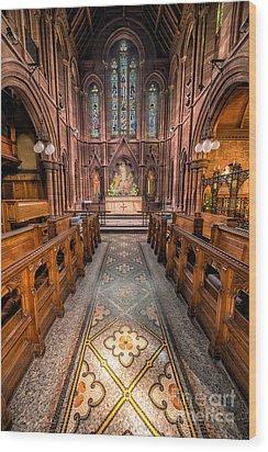 English Church 2 Wood Print by Adrian Evans