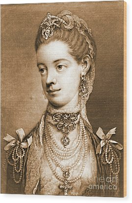 English Queen Charlotte 1762 Wood Print by Padre Art