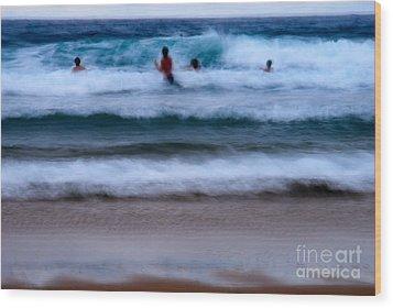 enjoy the ocean I Wood Print by Hannes Cmarits