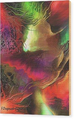 Enseveli Wood Print by Francoise Dugourd-Caput
