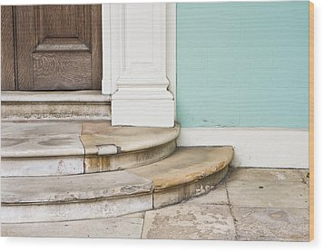 Entrance Steps Wood Print by Tom Gowanlock