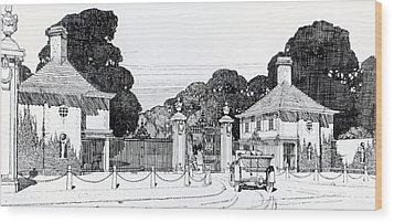 Entrance To Brooklandwood Wood Print by Thomas Hayton Mawson
