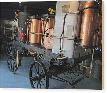 Equipment Displayed In Lavender Museum Wood Print by Pema Hou