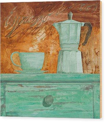 Espresso Wood Print by Guido Borelli