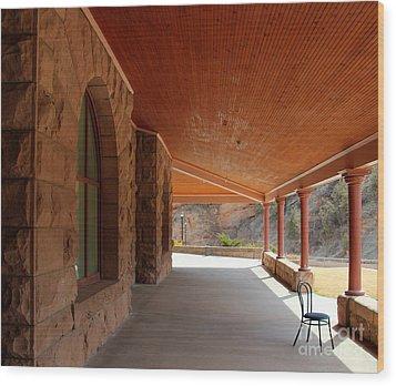 Wood Print featuring the photograph Evans Porch by Bill Gabbert