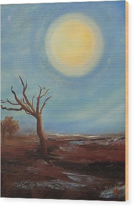 Evening Glow...hope Wood Print by Trish Bilich