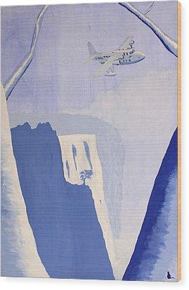 Exile Wood Print by Jonathan Laverick