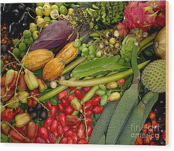 Exotic Fruits Wood Print by Carey Chen