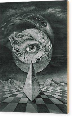 Eye Of The Dark Star Wood Print by Otto Rapp