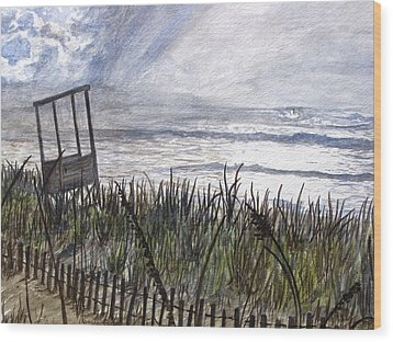 Eye Of The Storm Wood Print by Kevin F Heuman