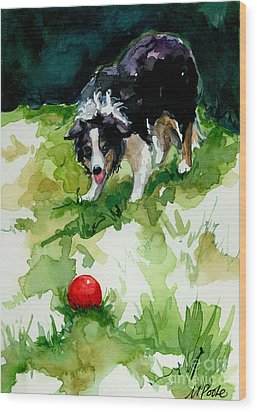 Eye On Tthe Ball Wood Print by Molly Poole