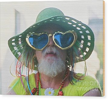 eye see Colours Of Specs Of Love At Southern Decadence In New Orleans Louisiana Wood Print by Michael Hoard