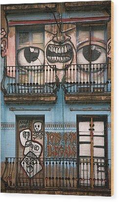 Eyes Of Barcelona Wood Print by Joanna Madloch