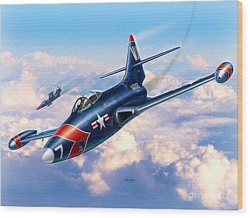 F9f-5p Photo Panthers Wood Print by Stu Shepherd