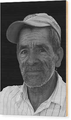 Face Of A Hardworking Man Wood Print by Heiko Koehrer-Wagner