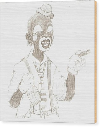 Face The Clown Wood Print by George Harrison
