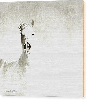 Fade To White Wood Print by Karen Slagle