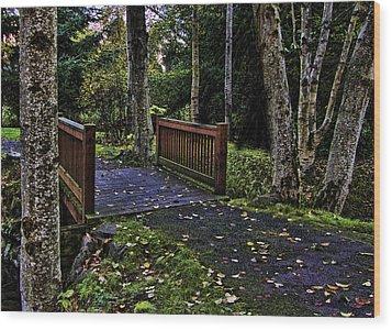 Fall Morning Wood Print by Ron Roberts