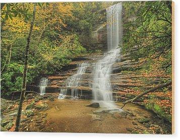 Fall Water Wood Print by Doug McPherson